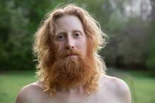 Shirtless Man With Beard