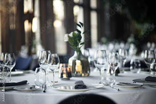 Fotomural Beautiful table set for an event party or wedding reception