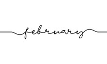 February Word Handwritten Desi...