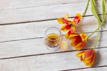 Cognac Glass And Open Orange T...