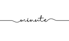 Minute Word Handwritten Design...