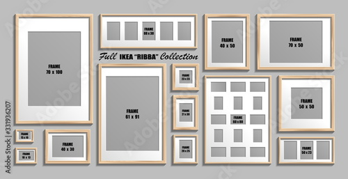 Photo Full collection of IKEA Ribba photo frames