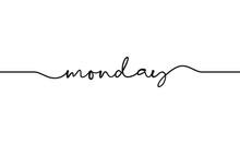 Monday Word Handwritten Design...