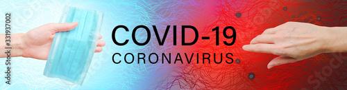Photo Covid-19 creative concept