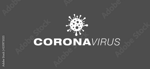 Fotomural Coronavirus Vektor Design Grafik Abbildung