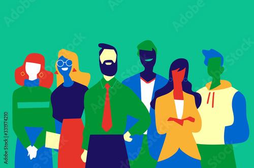 Squadra di professionisti di successo fatta di uomini e donne Tableau sur Toile
