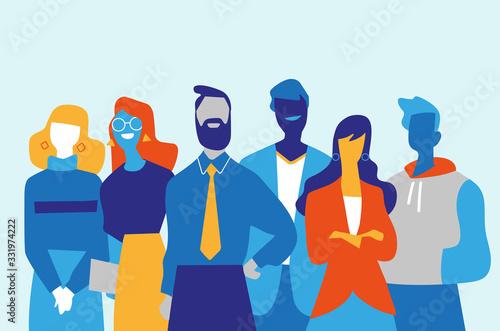 Foto Squadra di professionisti di successo fatta di uomini e donne