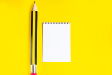 Paper Notepad And Huge Pencil ...