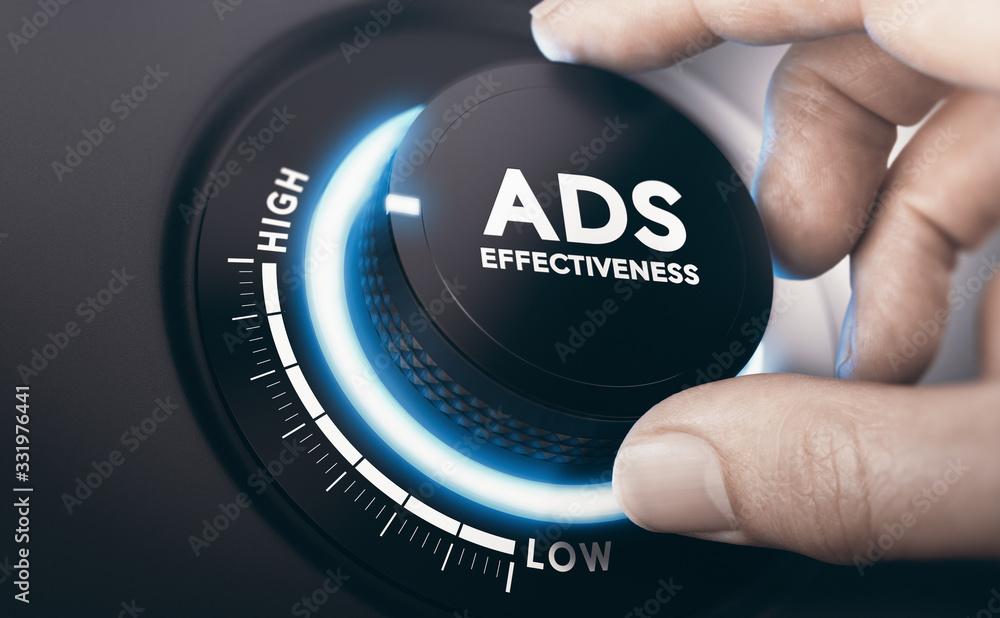 Fototapeta Effective Advertising Campaign. Ads Effectiveness.