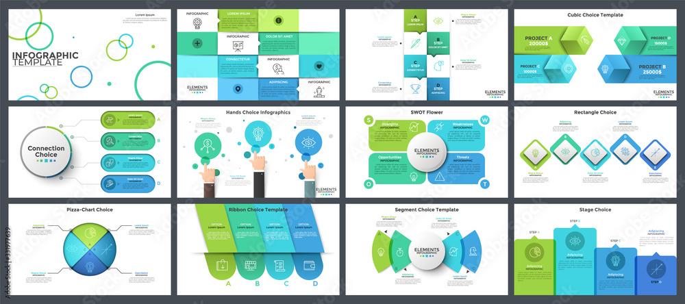 Fototapeta Collection of presentation templates