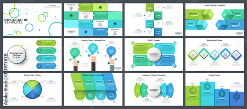 Collection of presentation templates Canvas-taulu
