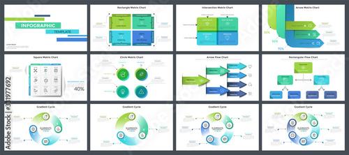Fotografie, Tablou Collection of presentation templates