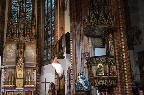 Kościół pw. Świętych Aniołów Stróżów, Wałbrzych, wnętrze - fototapety na wymiar
