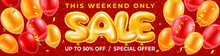 Balloons Letters Sale On Red F...