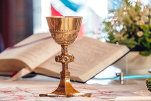 Chalice In Front Of Bible At C...