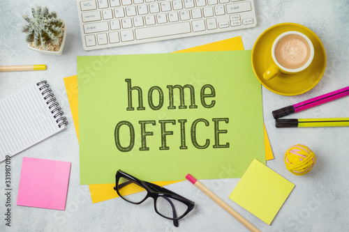 Home office and working from home concept Fototapete