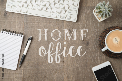 Fotografie, Obraz Home office and working from home concept