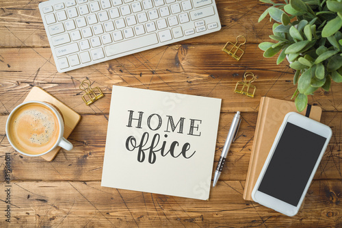 Home office and working from home concept Fototapet