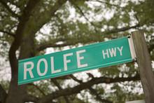 Rolfe Highway Road Sign, Named...