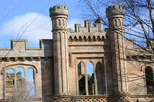 Fotografia Details of facade of Crawford Priory, Cupar, Fife, built early 18th century