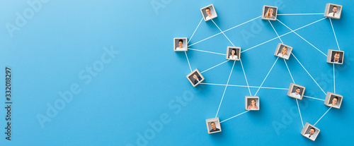 Teamwork, network and community concept. Fototapeta