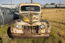 Junk Truck In Field Near South Dakota And Nebraska Border
