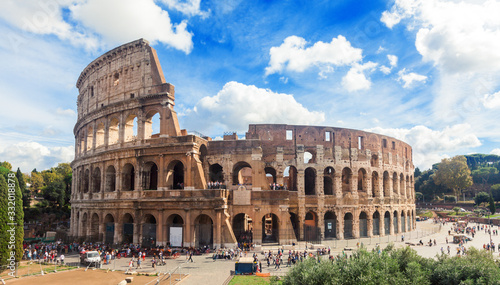 Vászonkép Beautiful Colosseum in Rome, Italy