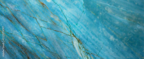 Turquoise aquamarine abstract marble granite natural stone texture background ba Wallpaper Mural