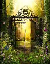Iron Gateway To A Secret Garden