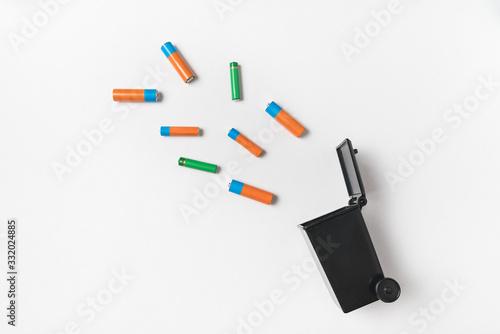 Fényképezés Spent finger-type batteries