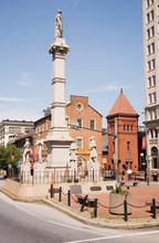 Statue In Town Center Of Lancaster, Pennsylvania