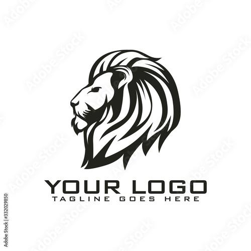 Fototapety, obrazy: head lion vintage logo
