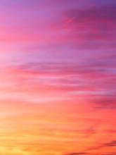 Ciel Abstrait Et Flamboyant Au...