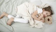 A Cute Little Girl Is Sleeping...