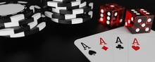 3d Render Four Aces And Poker ...