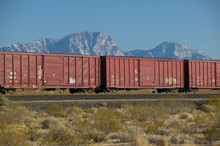 Freight Train Travels Through ...
