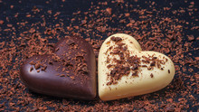 Two Heart-shaped Chocolates Ma...