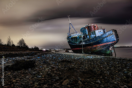 Photo The Corpach Boat Wreck near Fort William