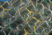 Abstract Image Of Stacks Of Lobster Traps On Mount Desert Island, ME