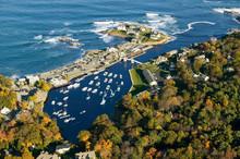 Aerial View Of Perkins Cove Ne...
