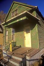 Decayed Building In Detroit, MI Slum