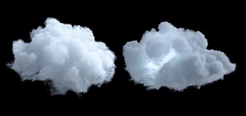 Cloud isolated on black