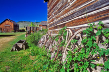 Old Building In Ghost Town Near Virginia City, MT