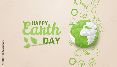 Happy earth day Fotobehang