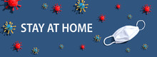 Stay At Home Theme With Virus ...
