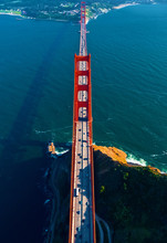 Aerial View Of The Golden Gate...