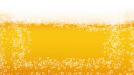 Beer foam. Craft lager splash. Oktoberfest background.