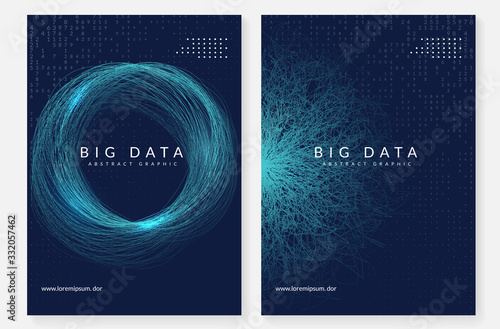 Obraz Digital technology abstract background. Artificial intelligence, deep learning and big data concept.  - fototapety do salonu