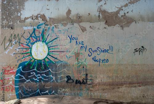 You Are My Sunshine Graffiti - Under Bridge
