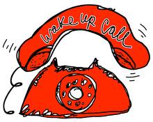 Wake Up Call Red Telephone